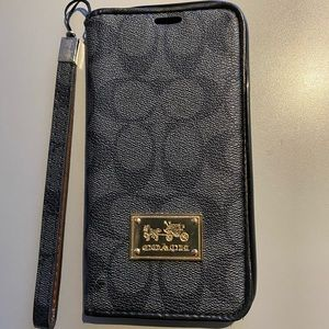 Used coach iPhone XS Max wallet/cardholder case